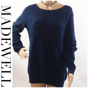 MADEWELL pullover Navy Long sleeve sweater large